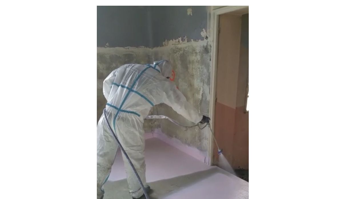 peelable protection for asbestos sites