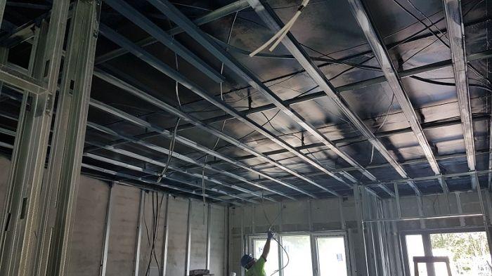 airtight ceiling vapour barrier