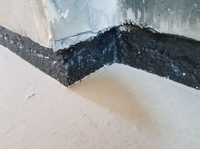 airtight floor wall connection